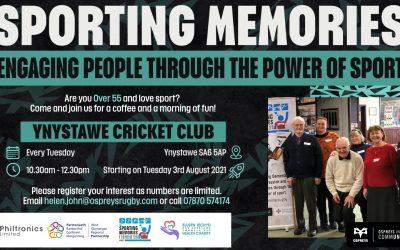 New Sporting Memories Club to Open in Ynystawe